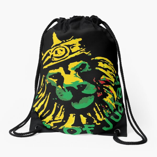 Lion with A Rastafari Flag King Fashion Diagonal Single Shoulder Workout Bag