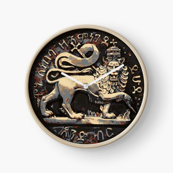 Jah Rastafari Ancient Rustic Lion of Judah Design  Clock