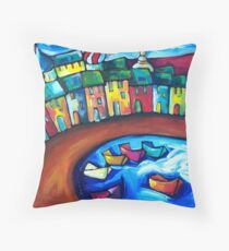RUSSIAN FISHING VILLAGE Throw Pillow