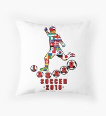 Russia 2018 World Cup - Soccer Qualified Team Throw Pillow