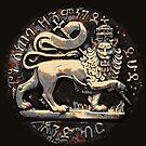 Jah Rastafari Ancient Rustic Lion of Judah Design  by rastaseed