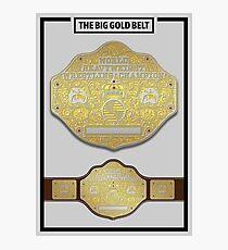Big Gold Belt - Spotlight Poster Photographic Print