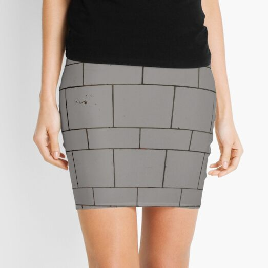 Green, surface, homogenous, smuth Mini Skirt