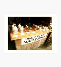 Maple Syrup on the Sales Table | Sepia Series Art Print