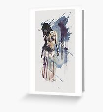 Bellydancer Abstract Greeting Card