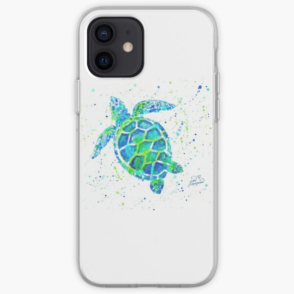 Sea Turtle by Jan Marvin iPhone Soft Case