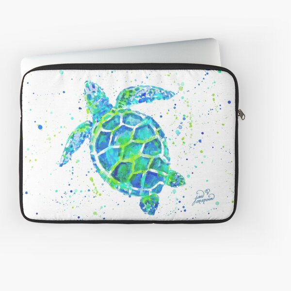 Sea Turtle by Jan Marvin Laptop Sleeve