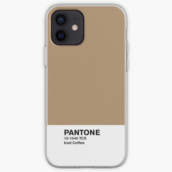 Iced Coffee Pantone Funda blanda para iPhone