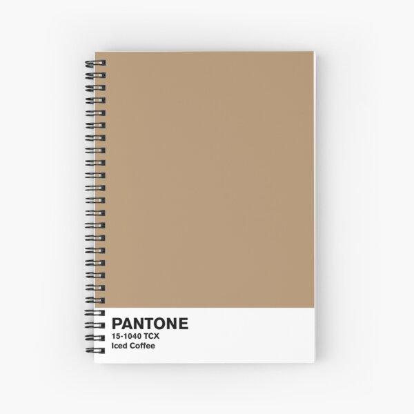 Iced Coffee Pantone Spiral Notebook