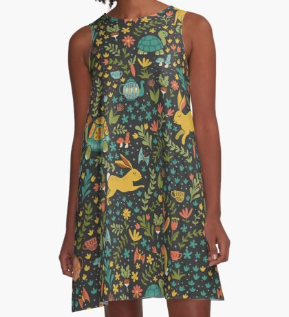 Tortoise and the Hare A-Line Dress