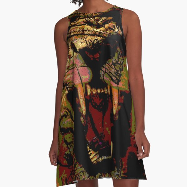 Jah Rasta Lion Power A-Line Dress