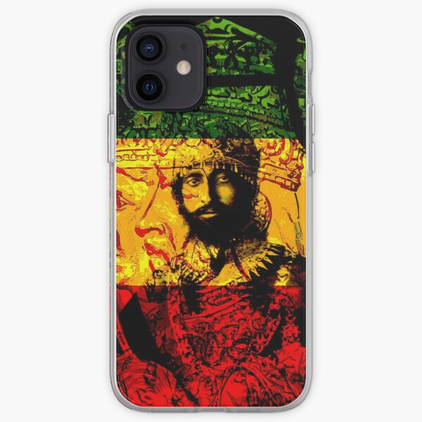 Rasta Haile Selassie Natural Mystic Lion of Judah iPhone Soft Case