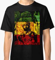 Camiseta clásica Rasta Haile Selassie Natural Mystic Lion of Judah