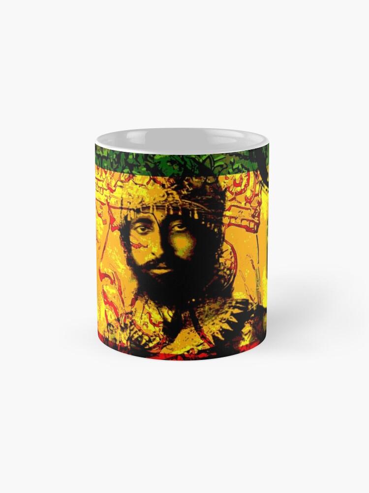 Alternate view of Rasta Haile Selassie Natural Mystic Lion of Judah Mug