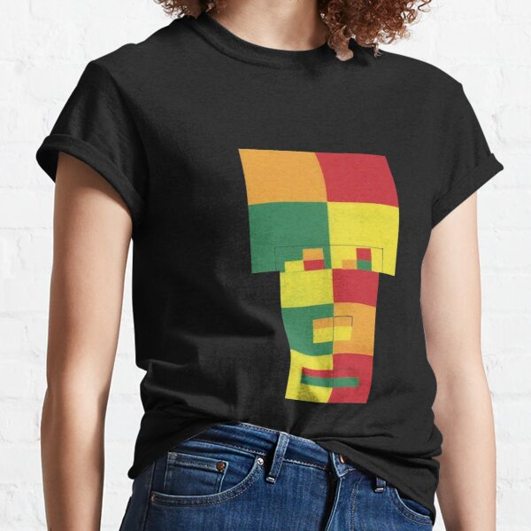 Square Fro (Facemadics abstract face colorful contemporary) Classic T-Shirt