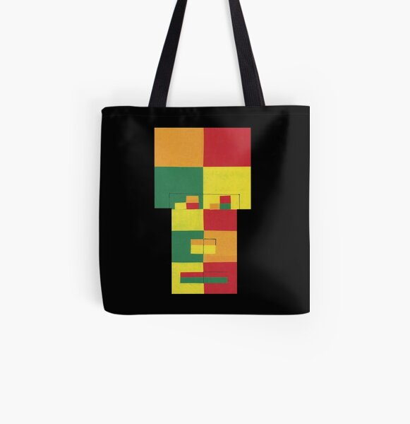 Square Fro (Facemadics abstract face colorful contemporary) All Over Print Tote Bag