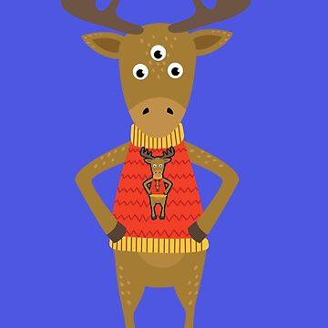 Deer Tshirt by ReneGodinez1