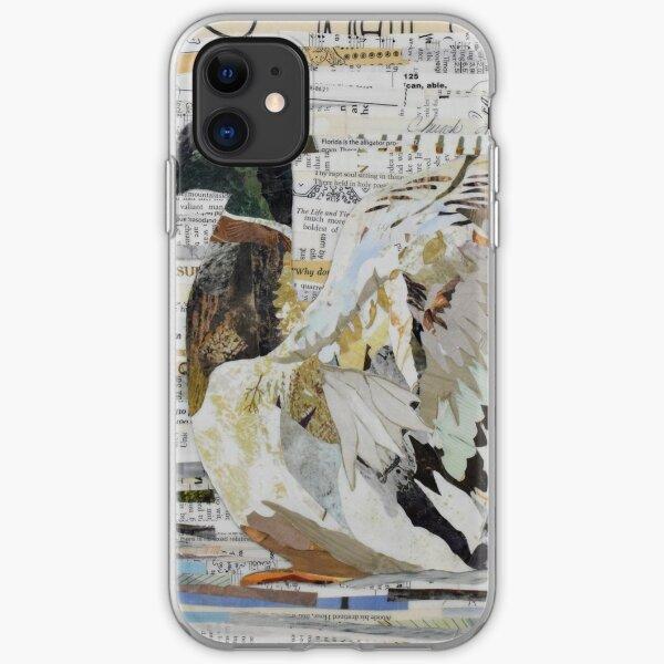 Mallard Duck Collage Art CE White Art iPhone Soft Case