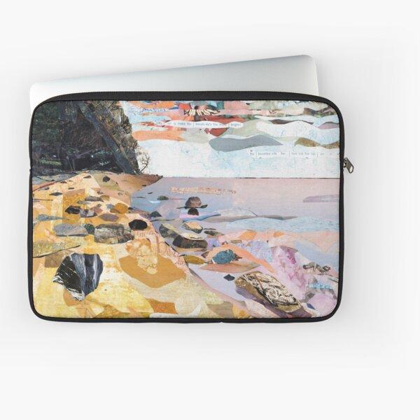Rocky Beach Collage Art Laptop Sleeve