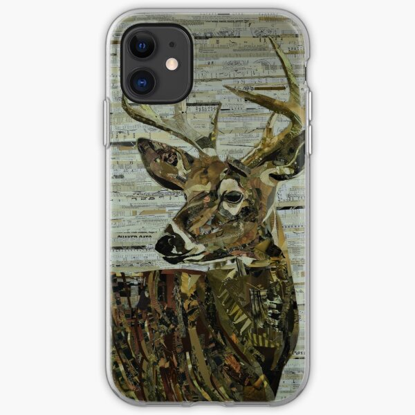 Whitetail Deer Collage Art Unique iPhone Soft Case