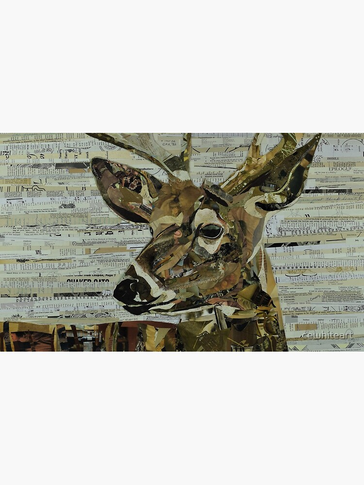Whitetail Deer Collage Art Unique by cewhiteart