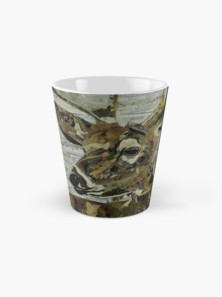 Alternate view of Whitetail Deer Collage Art Unique Mug