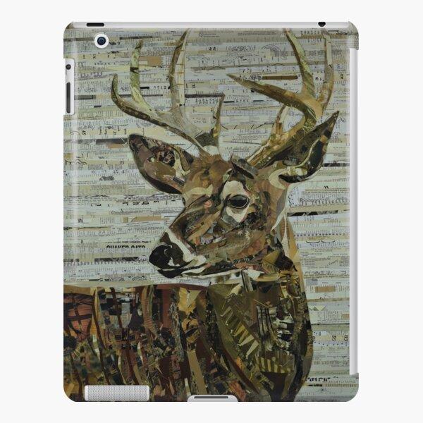 Whitetail Deer Collage Art Unique iPad Snap Case