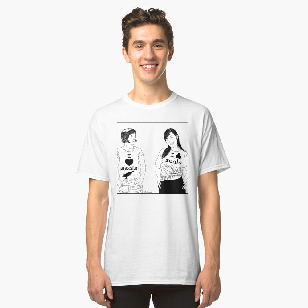 Cartoon:  I love seals ! Classic T-Shirt