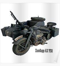 KS-750 WW2 German Motorcycle Poster