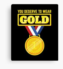 You Deserve to Wear Gold - Winter Sports Shirt Canvas Print