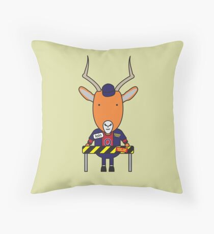 Iain the Immigration Officer Impala Throw Pillow