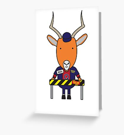 Iain the Immigration Officer Impala Greeting Card