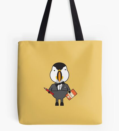 Pierre the Proofraeder Puffin Tote Bag