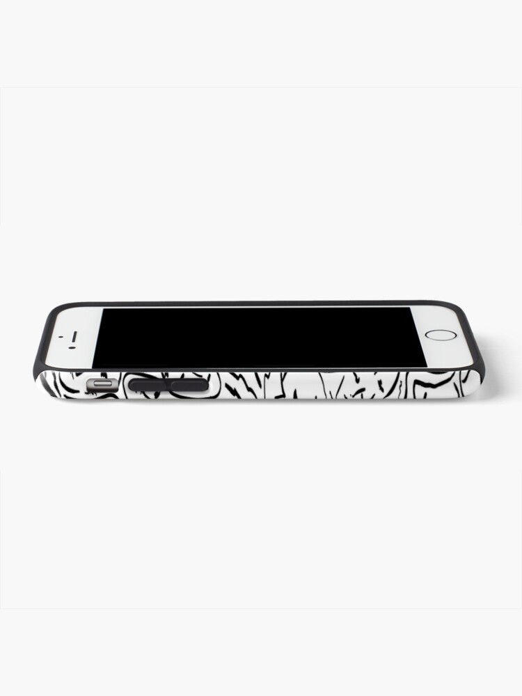 Alternate view of Call Me By Your Name Elios Shirt Faces in Black Outlines on White CMBYN iPhone Case & Cover