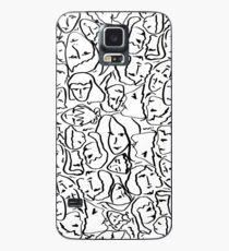 Funda/vinilo para Samsung Galaxy Llámame por tu nombre Elios Shirt Faces en contornos negros en blanco CMBYN