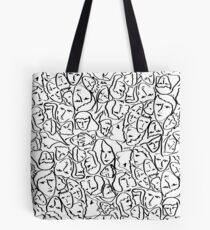 Call Me By Your Name Elios Shirt Faces in Black Outlines on White CMBYN Tote Bag