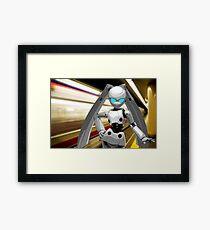 Subway Bunny Framed Print