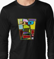 Scattered Mess (Facemadics) Long Sleeve T-Shirt