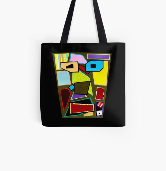 Scattered Mess (Facemadics) All Over Print Tote Bag