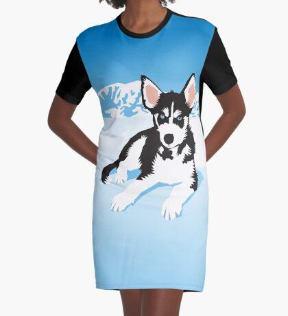husky Graphic T-Shirt Dress