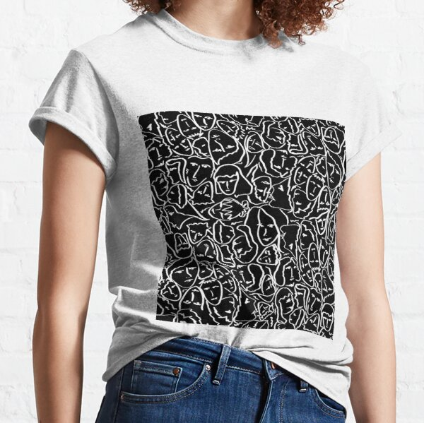 Call Me By Your Name  Elios Shirt Faces in White Outlines on Black CMBYN Classic T-Shirt