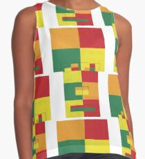 Fro Square Repeat (Facemadics colorful contemporary abstract face) Sleeveless Top
