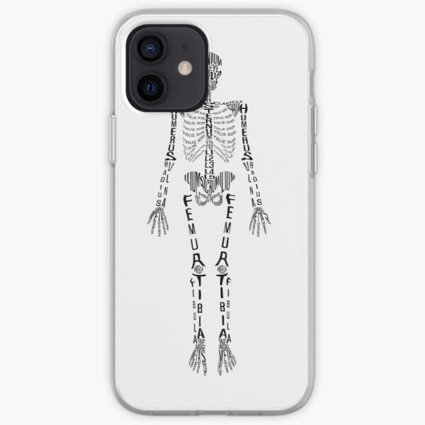 Typographical Skeleton iPhone Soft Case