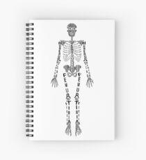 Typographical Skeleton Spiral Notebook