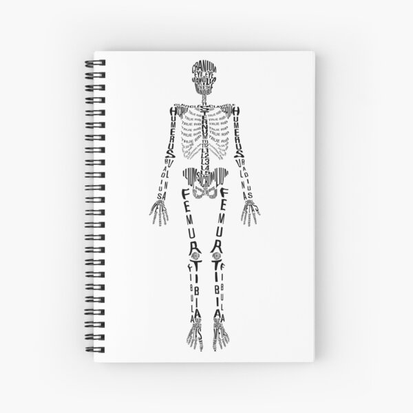 Typographical Skeleton Spiral Notebook