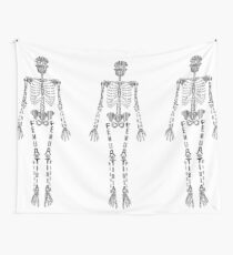 Typographical Skeleton Tapestry