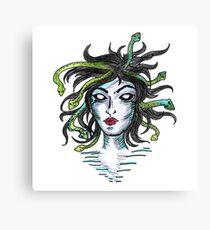 Medusa Greek Mythology Art Design Canvas Print