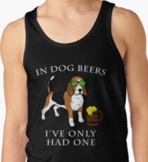 Beagle I've Only Had One In Dog Beers Year of the Dog Irish St Patrick Day Men's Tank Top