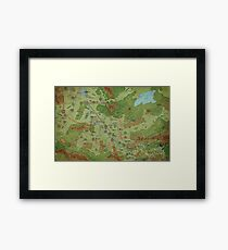 Southern Peloria Map by Darya Makarava Framed Art Print