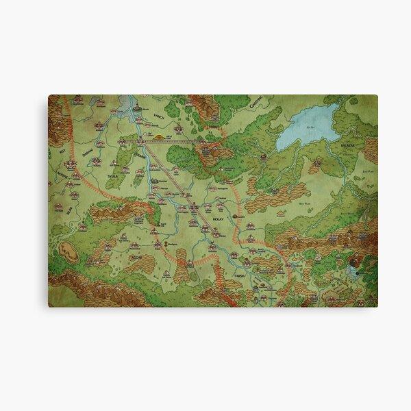 Southern Peloria Map by Darya Makarava Canvas Print